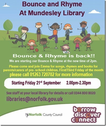Bounce and Rhyme at Mundesley Library