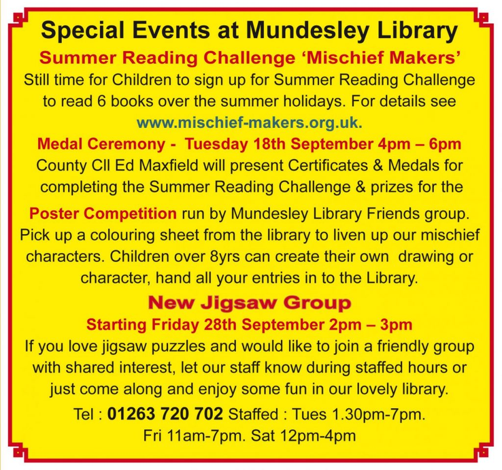 Special Events at Mundanely Library