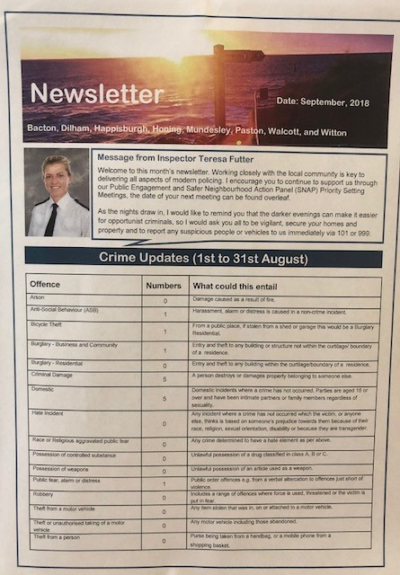 Police Newletter for August