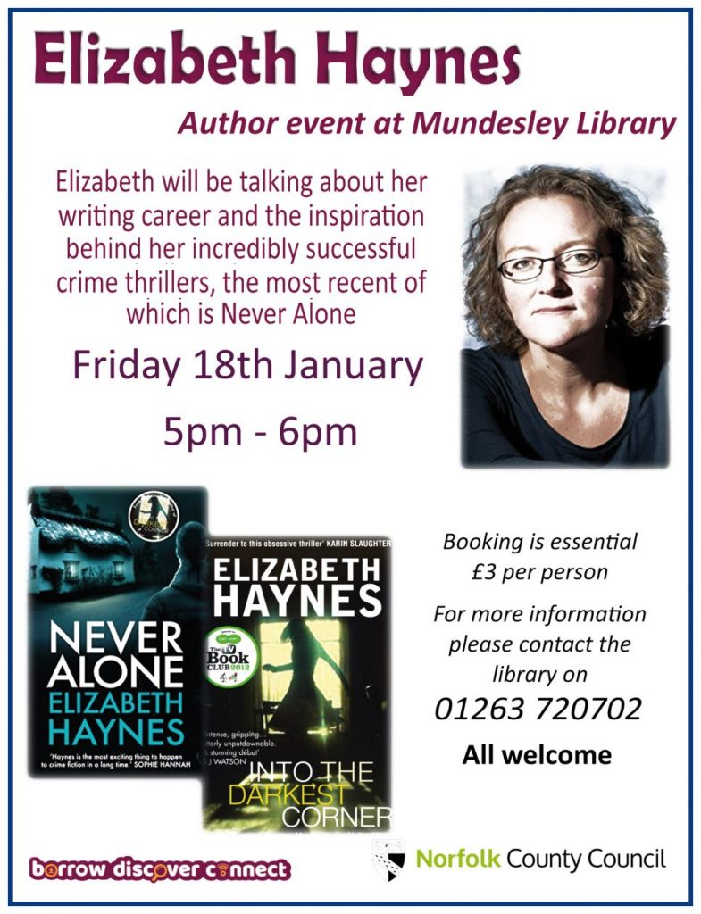 Elizabeth Haynes at Mundesley Library