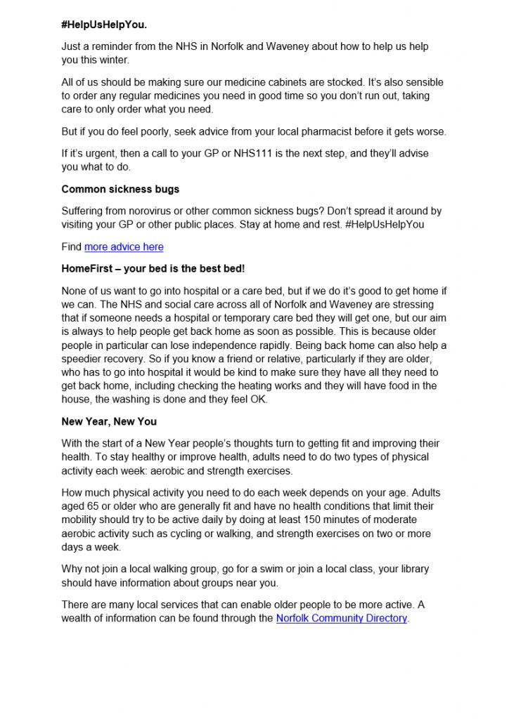 NNDC Local Plan residents letter