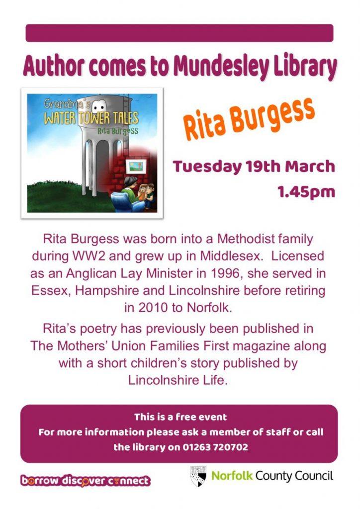 Rita Burgess comes to Mundesley