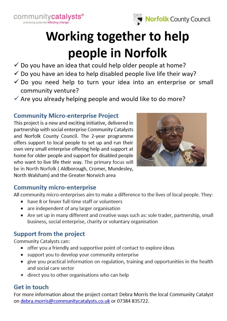 Community Enterprise Catalyst (Norfolk) based in Norwich