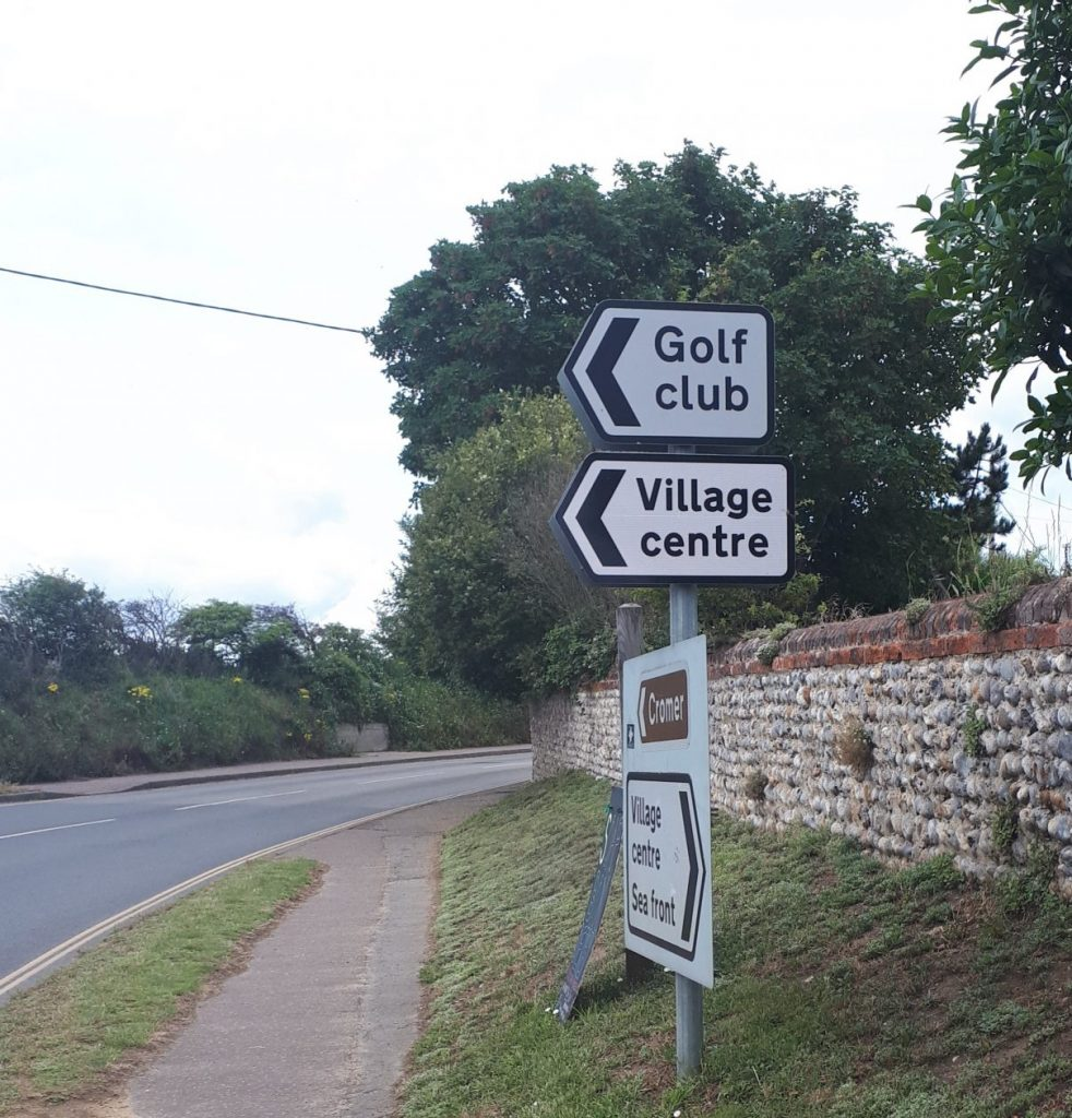 New signage for the Village Centre