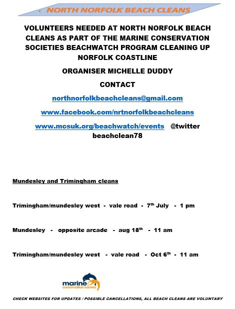 Mundesley's Beach Clean Dates