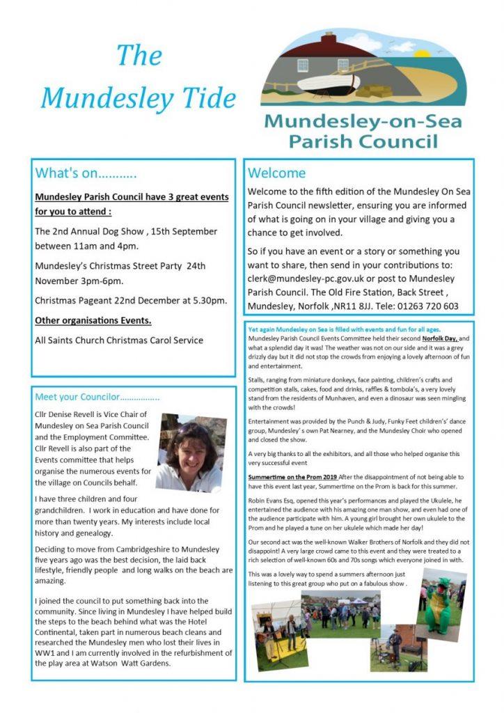 Mundesley Tide Newsletter