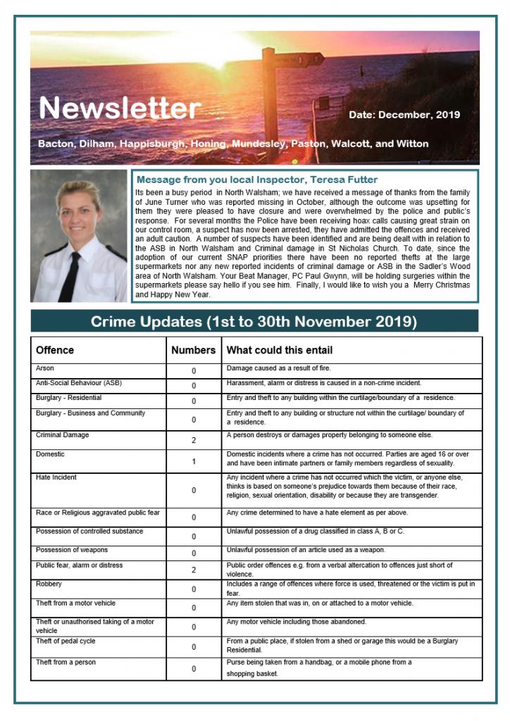 Police newsletter - November page 1