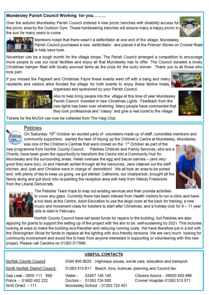 Mundesley Parish Newsletter - Back Page