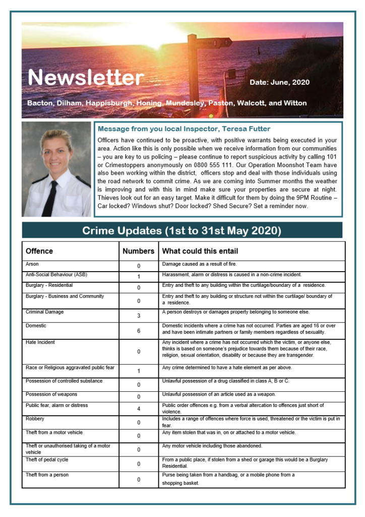 Police Newsletter - page 1