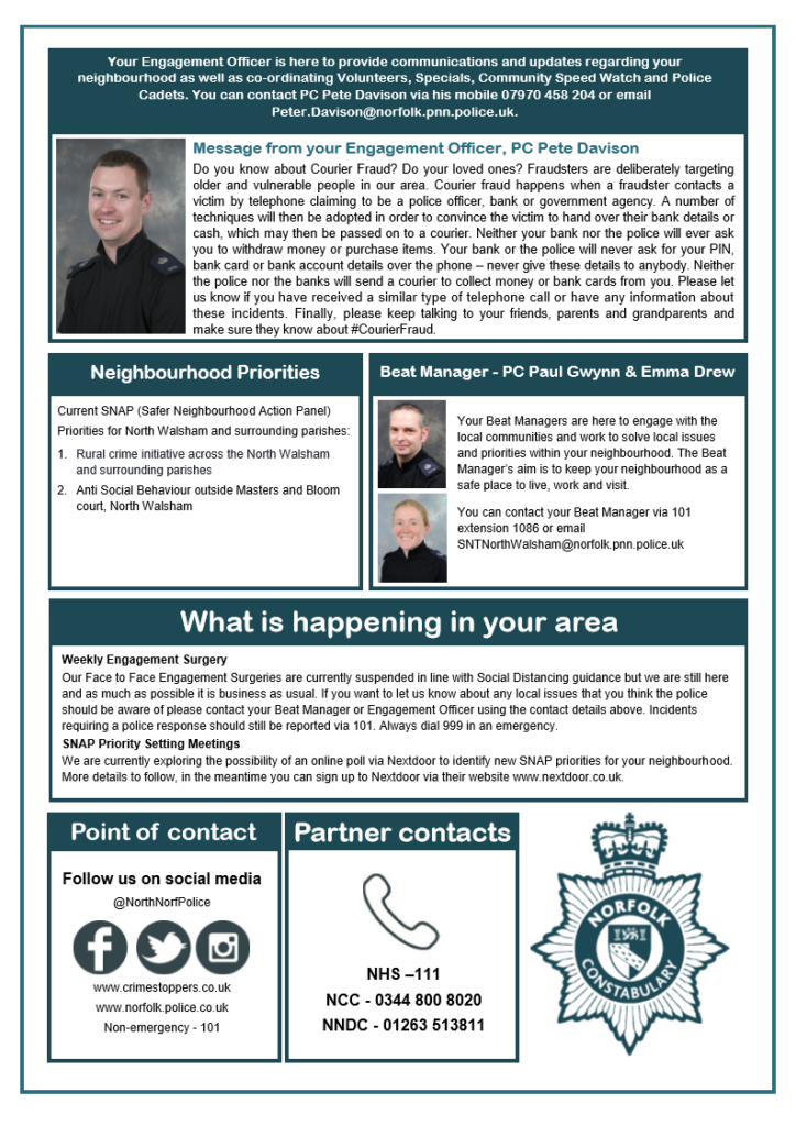 Police Newsletter - May