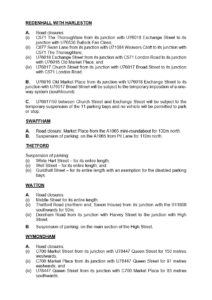 Temporary Traffic Restrictions in Norfolk Towns for Covid-19 Related Measures PAGE 3