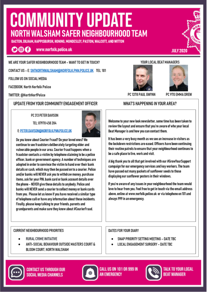 Police Newsletter page 1