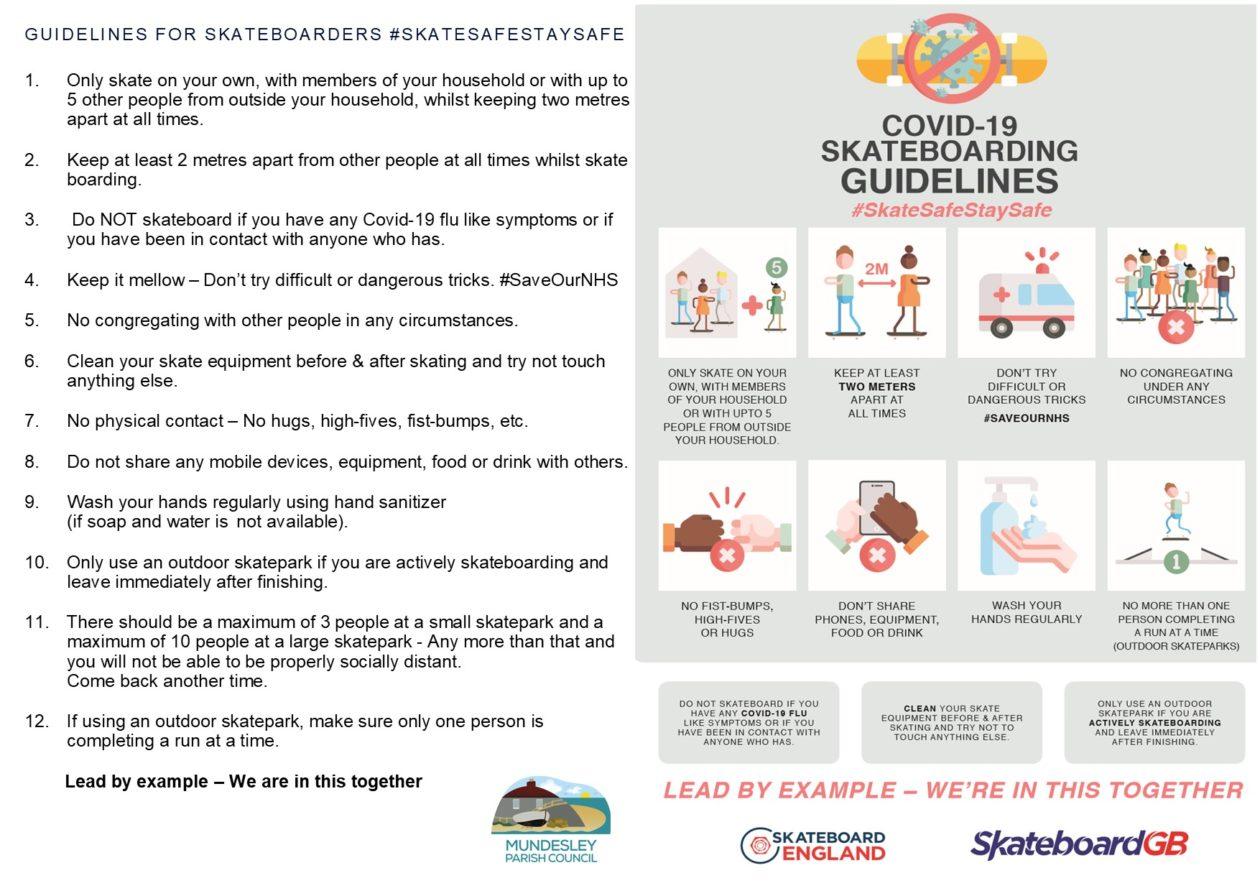 Skate Park Rules for Covid-19