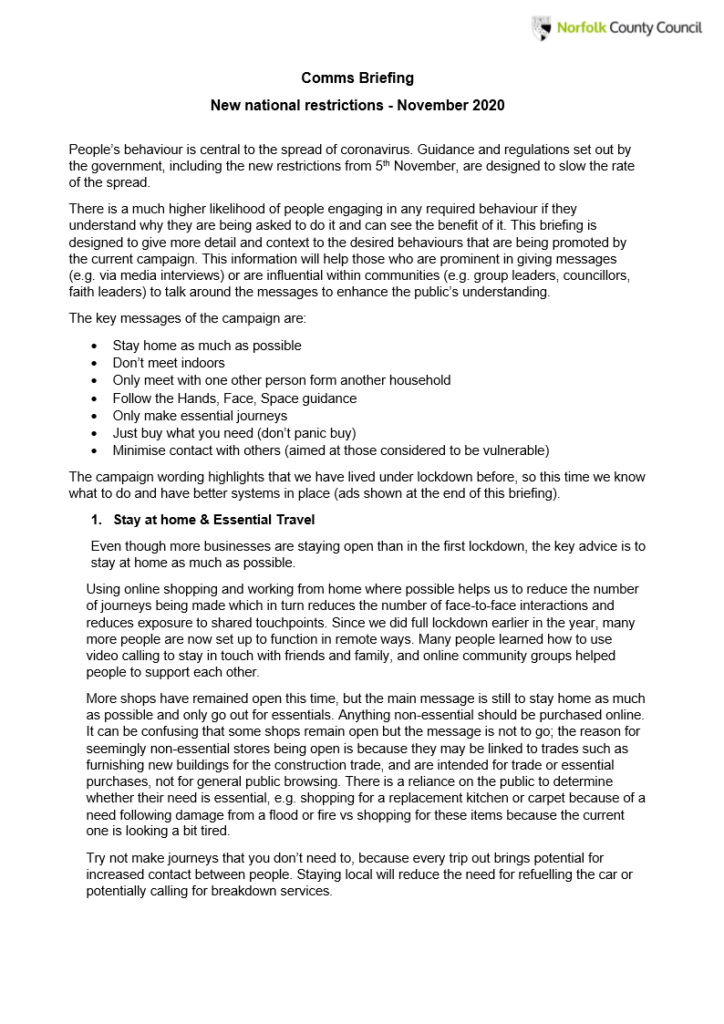NCC New Restrictions Briefing page 1