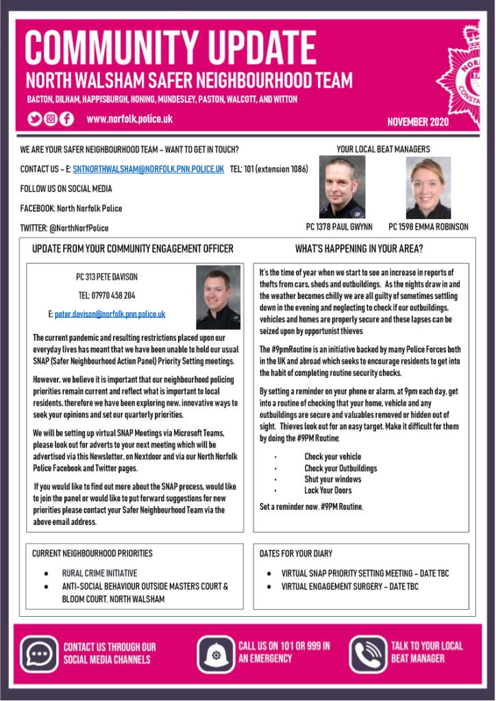 Police newsletter November 2021 page 1