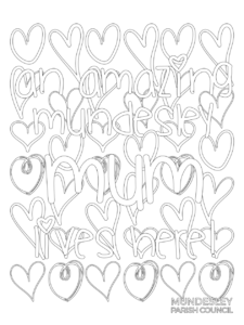 MOTHERS DAY POSTER TO COLOUR IN