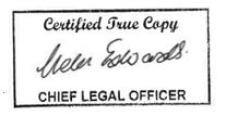 Certified signature